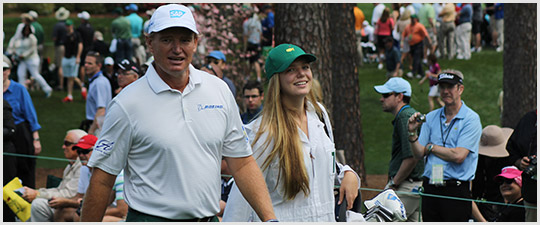 Ernie Els at The Masters