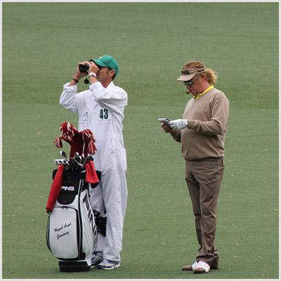 Miguel Angel jimenez at The Masters