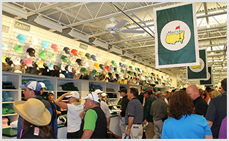 The gift shop is a must-stop for Masters visitors