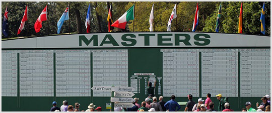 The Masters Scoreboard at Augusta